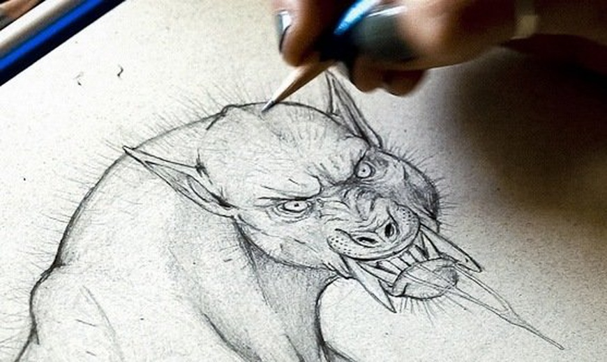 How to draw a werewolf - Monster Drawing Techniques with Monster ...