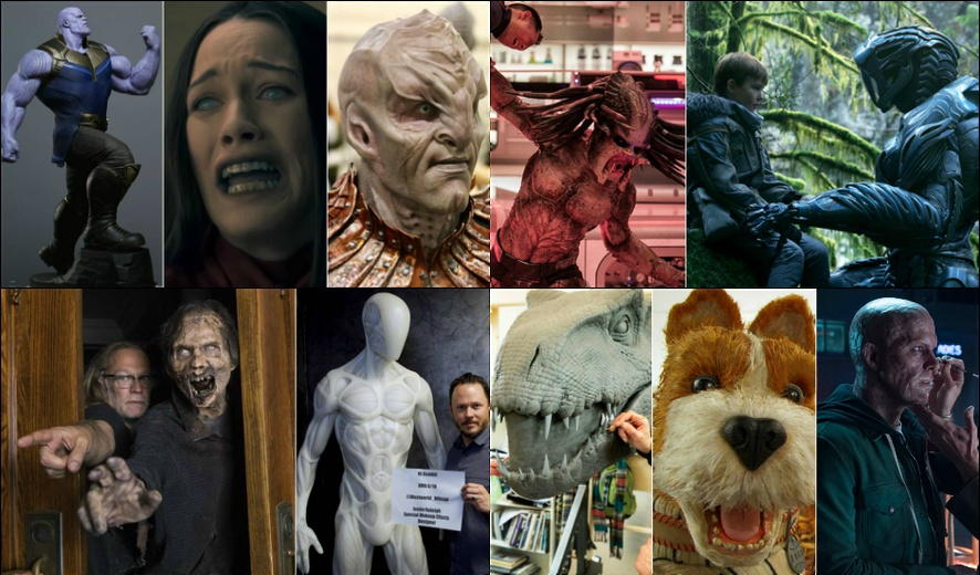 The Top 10 Practical & Makeup Effects of 2018 in Film & Television (As voted by you guys!)