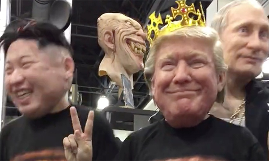 Donald Trump, Vladimir Putin and Kim Jong-un Hyper Realistic Silicone Masks by Hyperflesh revealed at Monsterpalooza 2017 Wins Facebook Top Ten
