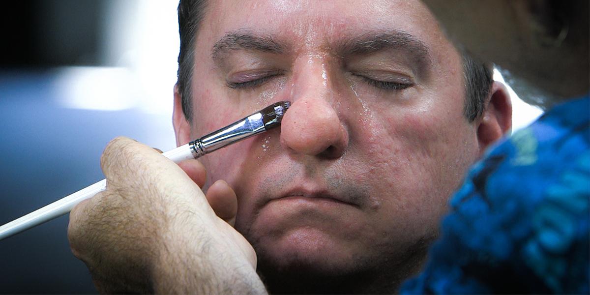 Prosthetic Makeup Basics - Gelatin Facial Appliances part 2   Stan