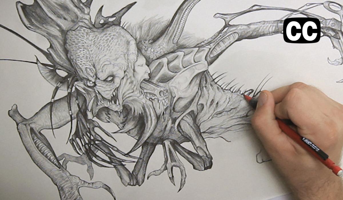Famous Line Art : How to draw monsters drawing stan winston's creatures